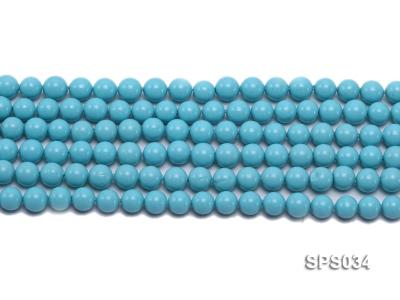 Wholesale 8mm Round Sky-blue Seashell Pearl String SPS034 Image 2
