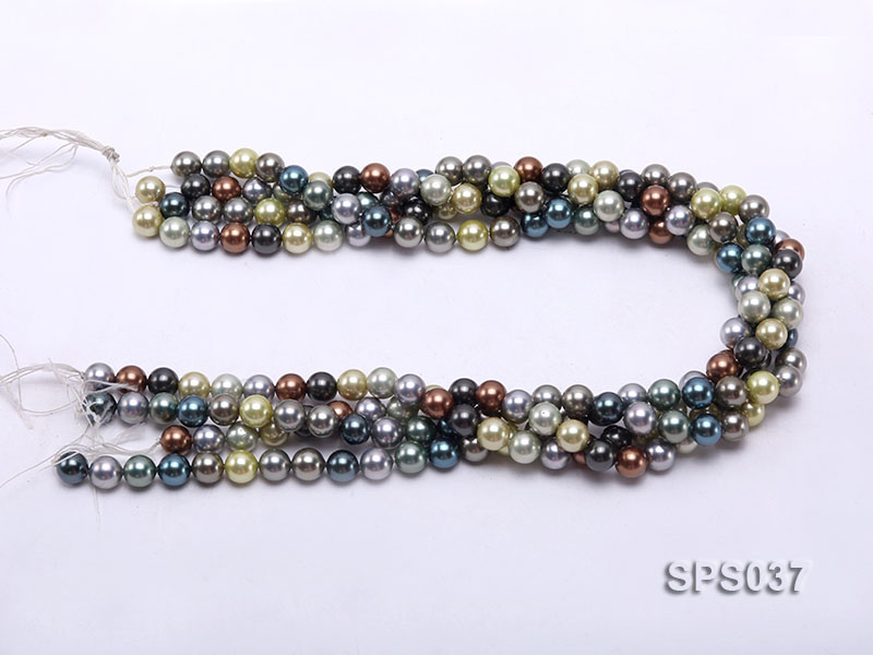 Wholesale 8mm Multi-color Round Seashell Pearl String big Image 3