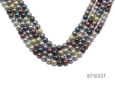 Wholesale 8mm Multi-color Round Seashell Pearl String SPS037 Image 1