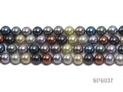 Wholesale 8mm Multi-color Round Seashell Pearl String SPS037 Image 2