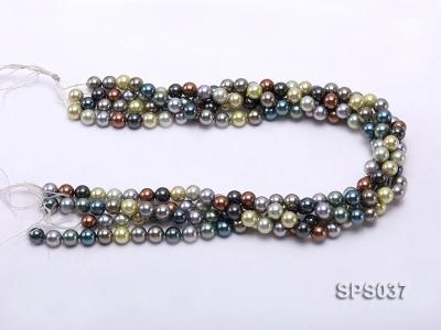 Wholesale 8mm Multi-color Round Seashell Pearl String SPS037 Image 3