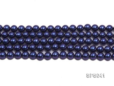 Wholesale 8mm Round Dark Blue Seashell Pearl String SPS041 Image 2