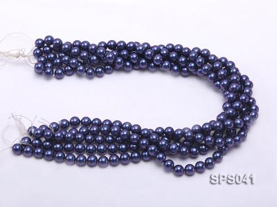 Wholesale 8mm Round Dark Blue Seashell Pearl String SPS041 Image 3