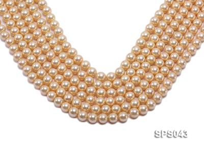 Wholesale 8mm Round Yellow Seashell Pearl String SPS043 Image 1