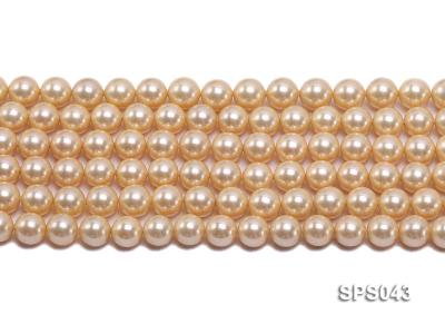 Wholesale 8mm Round Yellow Seashell Pearl String SPS043 Image 2
