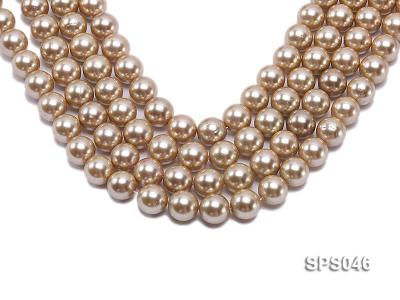 Wholesale 14mm Round Champagne Seashell Pearl String SPS046 Image 1