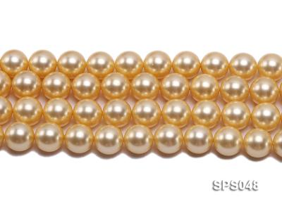 Wholesale 14mm Round Golden Seashell Pearl String SPS048 Image 2