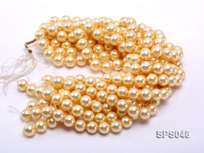 Wholesale 14mm Round Golden Seashell Pearl String SPS048 Image 3