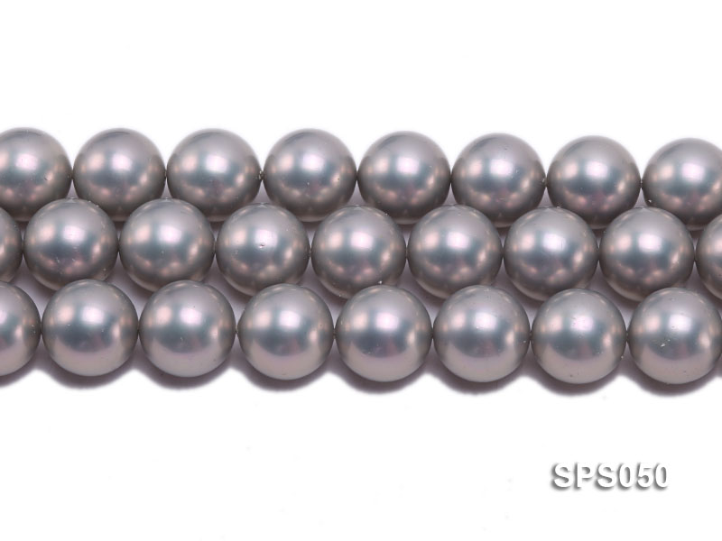 Wholesale 18mm Round Grey Seashell Pearl String big Image 2
