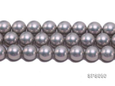 Wholesale 18mm Round Grey Seashell Pearl String SPS050 Image 2