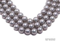 Wholesale 18mm Round Grey Seashell Pearl String SPS050
