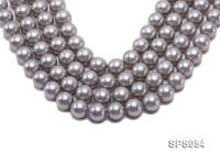 Wholesale 16mm Round Grey Seashell Pearl String SPS054