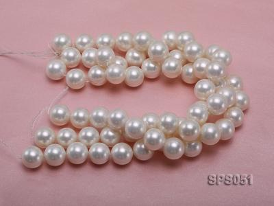 Wholesale 18mm Round White Seashell Pearl String SPS051 Image 3
