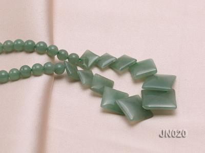 6mm Round and Square Light Green Aventurine Necklace JN020 Image 3