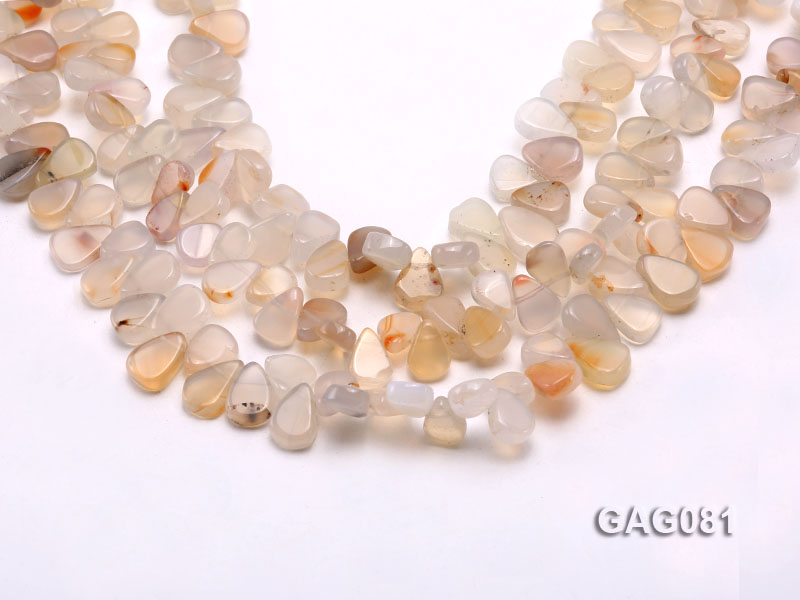 wholesale 9x15mm white drop shape agate strings big Image 1