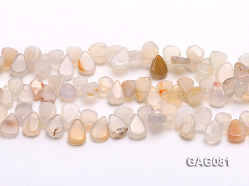 wholesale 9x15mm white drop shape agate strings big Image 2