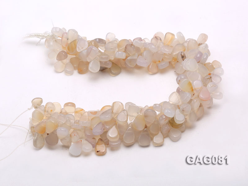 wholesale 9x15mm white drop shape agate strings big Image 3