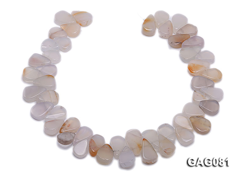 wholesale 9x15mm white drop shape agate strings big Image 4