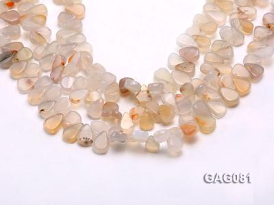 wholesale 9x15mm white drop shape agate strings GAG081 Image 1