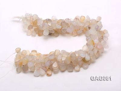 wholesale 9x15mm white drop shape agate strings GAG081 Image 3
