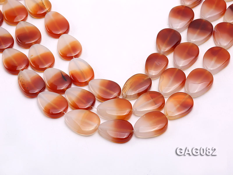 wholesale 9x15mm red drop agate strings big Image 1