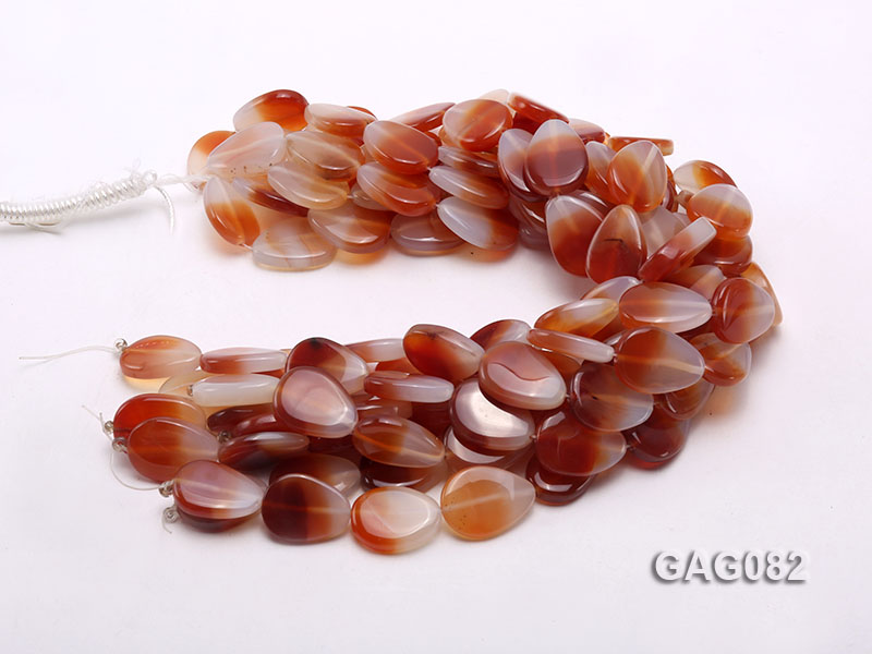 wholesale 9x15mm red drop agate strings big Image 3