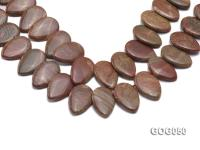 Wholesale 20x30mm Leaf-shaped Picasso Stone String GOG050