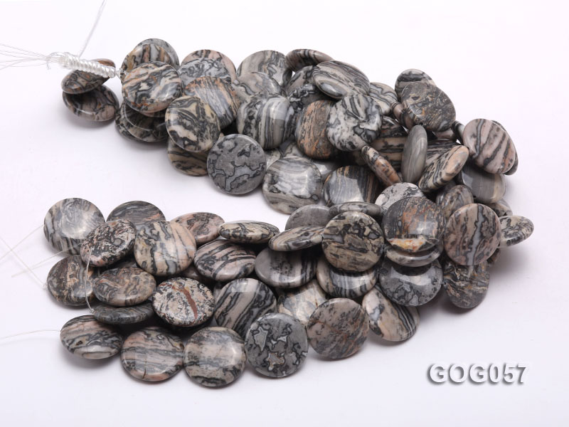 Wholesale 25mm Disc-shaped Picasso Stone String big Image 3