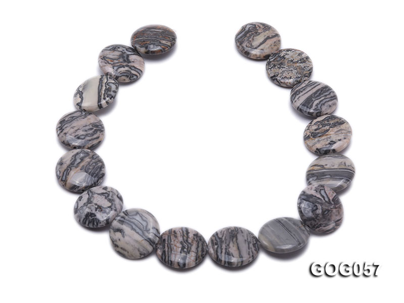 Wholesale 25mm Disc-shaped Picasso Stone String big Image 4