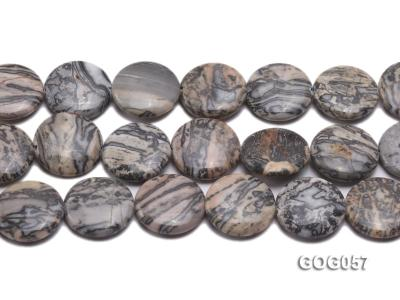 Wholesale 25mm Disc-shaped Picasso Stone String GOG057 Image 2
