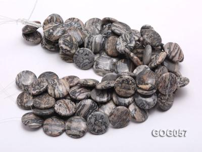 Wholesale 25mm Disc-shaped Picasso Stone String GOG057 Image 3