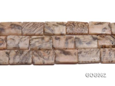 Wholesale 25x17mm Rectangular Picasso Stone String GOG062 Image 2