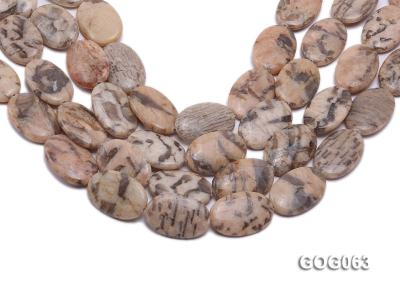 Wholesale 31x21mm Oval Picasso Stone String GOG063 Image 1