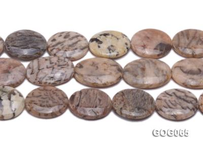 Wholesale 30x25mm Oval Picasso Stone String GOG065 Image 2