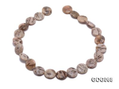 Wholesale 19x19mm Disc-shaped Picasso Stone String GOG068 Image 4