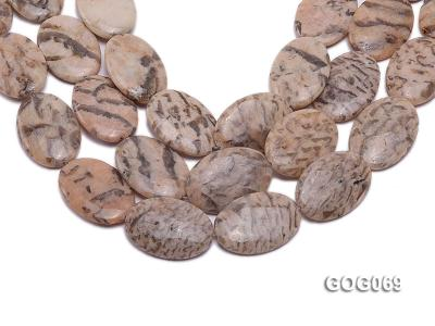 Wholesale 37x26mm Oval Picasso Stone String GOG069 Image 1
