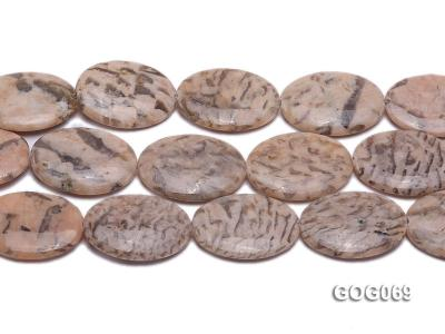 Wholesale 37x26mm Oval Picasso Stone String GOG069 Image 2