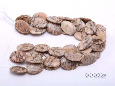Wholesale 37x26mm Oval Picasso Stone String GOG069 Image 3