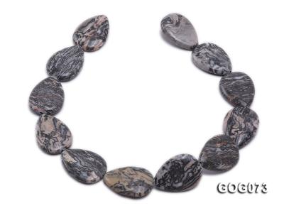 Wholesale 35x25mm Leaf-shaped Picasso Stone String GOG073 Image 4