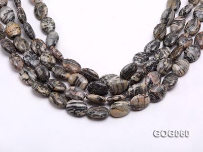 Wholesale 18x13mm Oval Picasso Stone String GOG060 Image 1