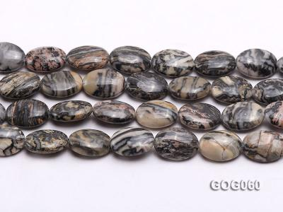 Wholesale 18x13mm Oval Picasso Stone String GOG060 Image 2
