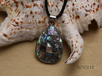 40x30mm Drop-shaped Abalone Shell Pendant SPD010 Image 4