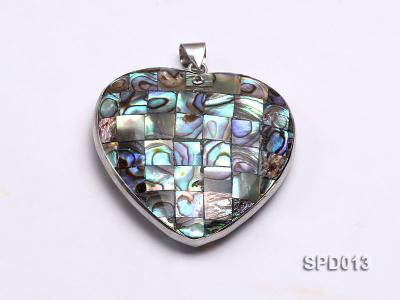 45x47mm Heart-shaped Abalone Shell Pendant SPD013 Image 2