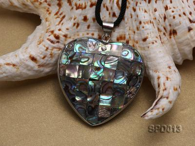 45x47mm Heart-shaped Abalone Shell Pendant SPD013 Image 3