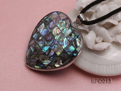 45x47mm Heart-shaped Abalone Shell Pendant SPD013 Image 4