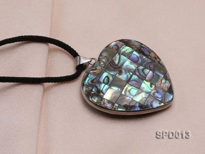 45x47mm Heart-shaped Abalone Shell Pendant SPD013 Image 5