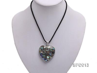 45x47mm Heart-shaped Abalone Shell Pendant SPD013 Image 6