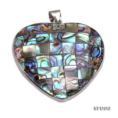45x47mm Heart-shaped Abalone Shell Pendant SPD013 Image 1