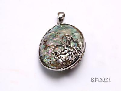 40x55mm Oval Abalone Shell Pendant SPD021 Image 1