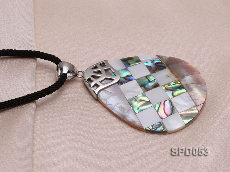 34x50mm Drop-shaped Black Shell Pendant big Image 4